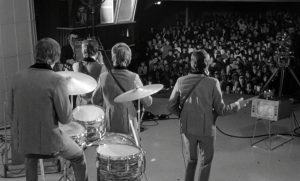 The Beatle's 1964 'A Hard Day's Night' filmed at the Scala Theatre, Goodge Street. In the Eighties, this was the site of the first Scala film club.