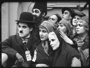 """Scene from Chaplin's """"The Immigrant."""" Watching Flicker Alley's new Blu-ray/DVD set """"Chaplin's Mutual Comedies"""" is best described as a revelation because one can witness a master filmmaking coming of age in the dozen shorts he made between 1916-17. Credit: Flicker Alley"""