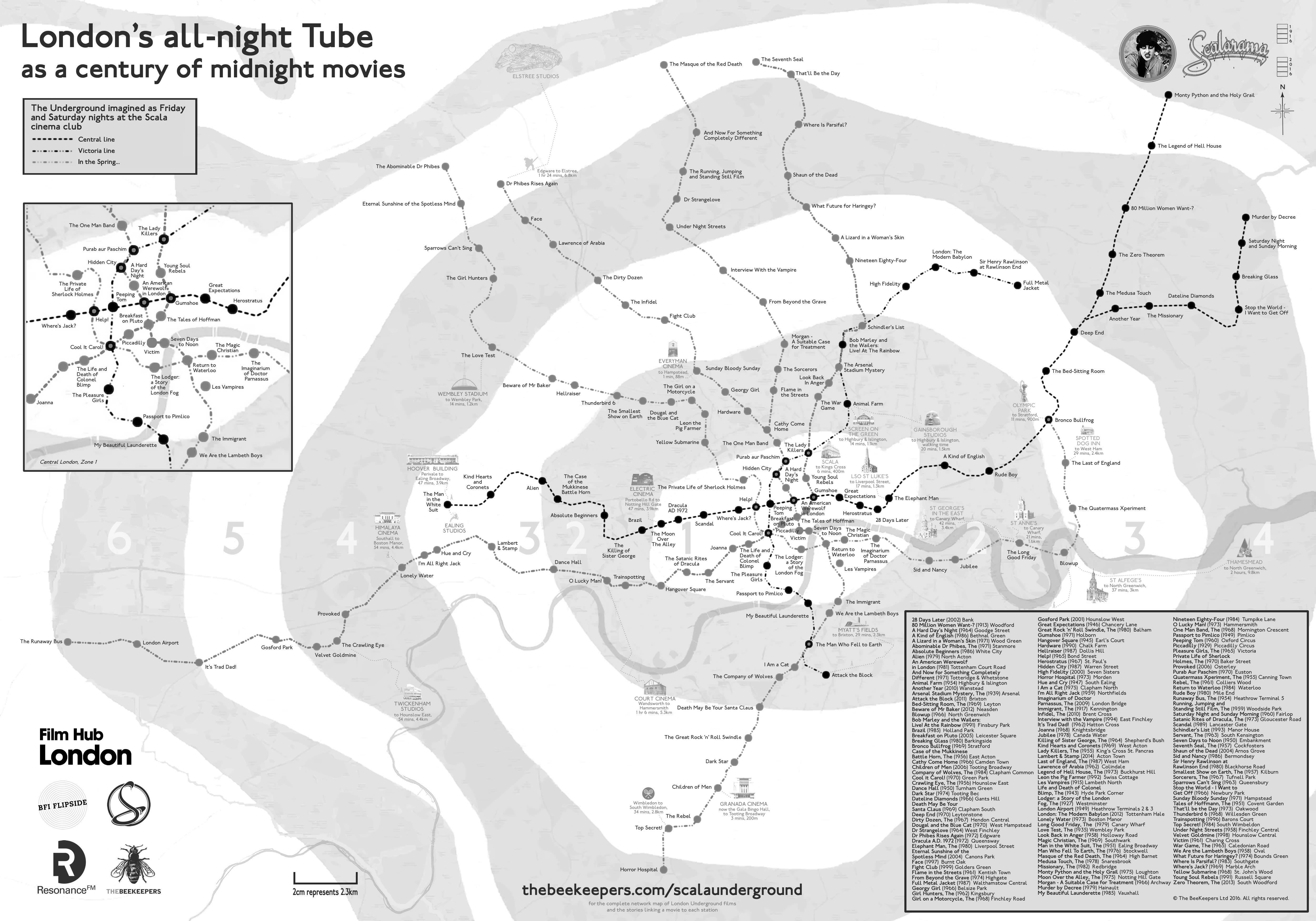 scala map of the london night tube not all 267 stations as a century of midnight movies a3 jpg
